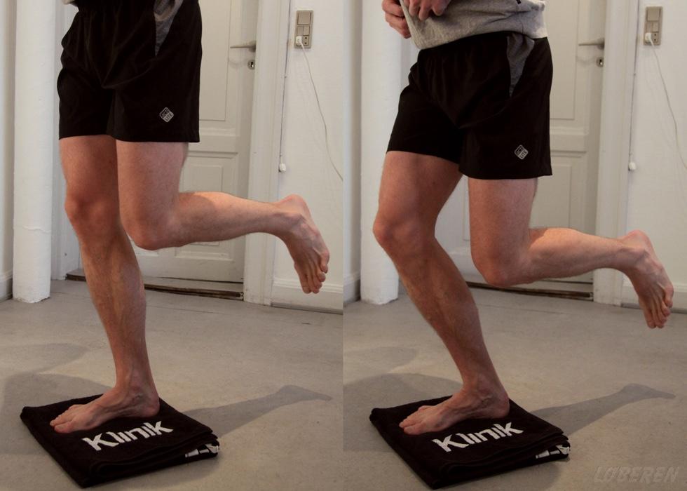 Øvelser for knæet uden brug af elastik.