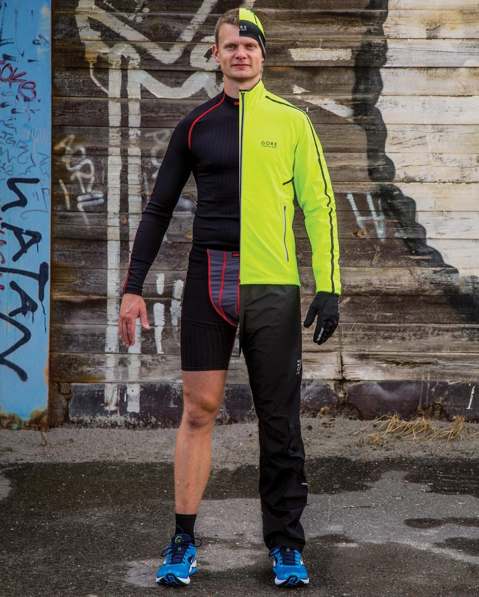 Løbere der illustrerer påklædningen til vinterløb.